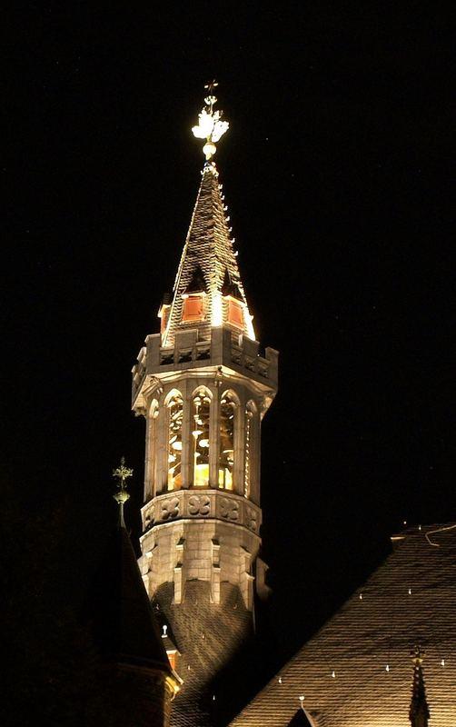 Aachener Rathaus bei Nacht (Linker Turm)