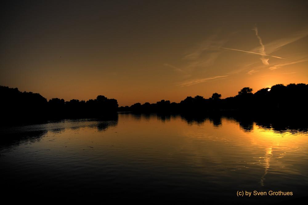 Aasee Sonnenuntergang