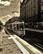 ab und zu fährt sie Sonntags die alte Strassenbahn