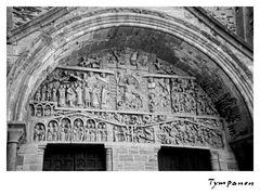 Abbatiale Dainte-Foy de  - Tympanon