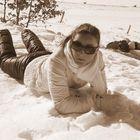 abbronzzarsi con la neve