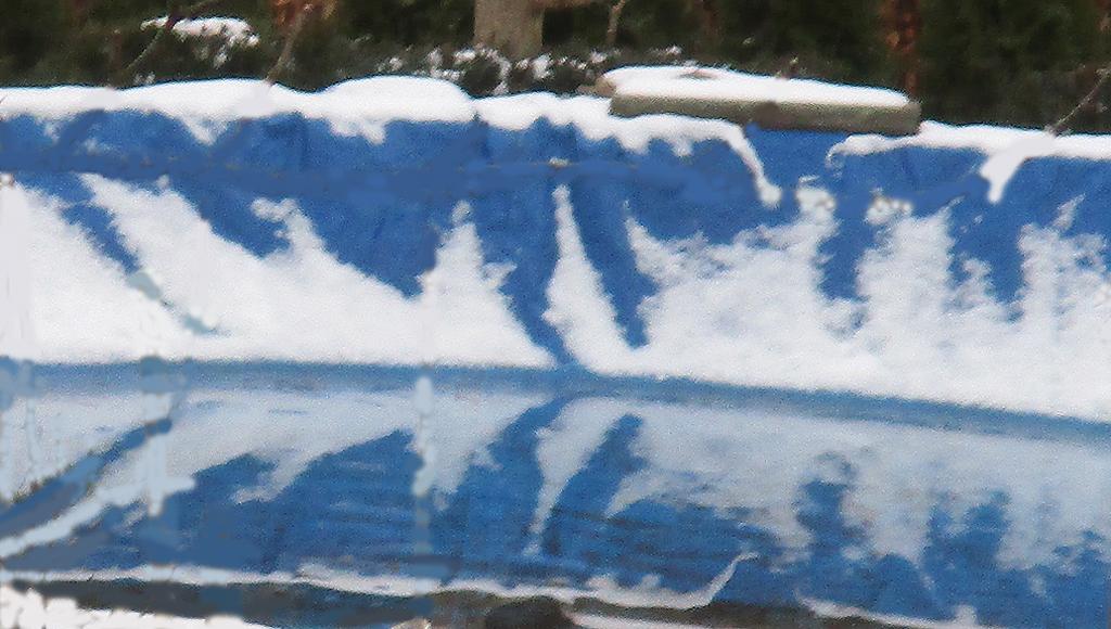 Abdeckplane an Nachbars swimmingpool heute