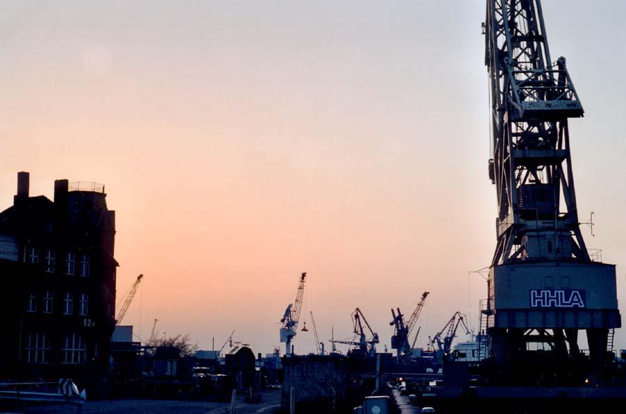 Abend am Hafen