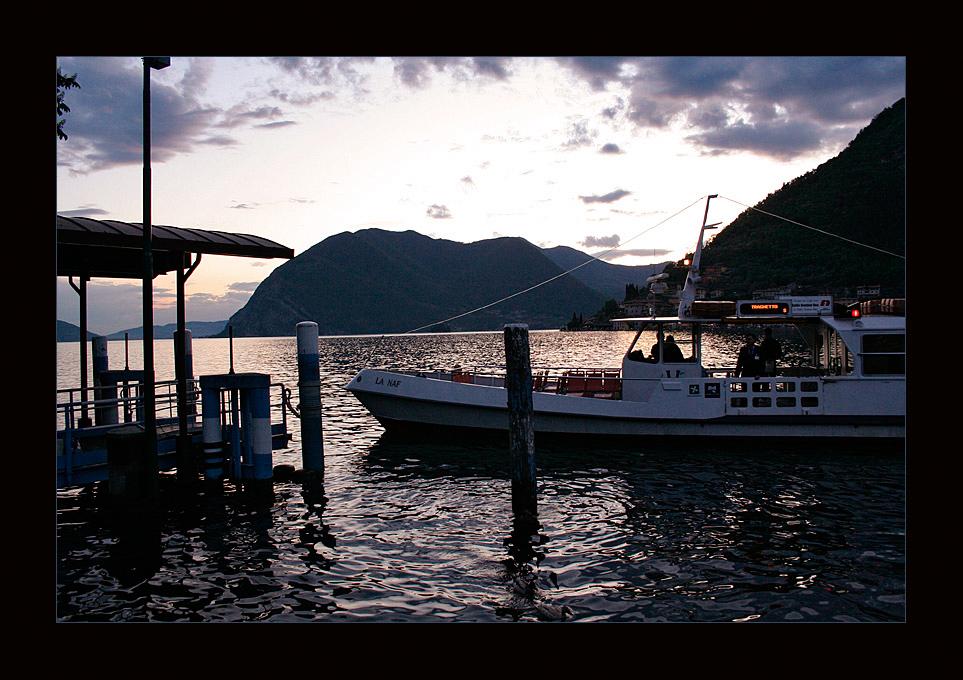 Abend am Lago d`Iseo