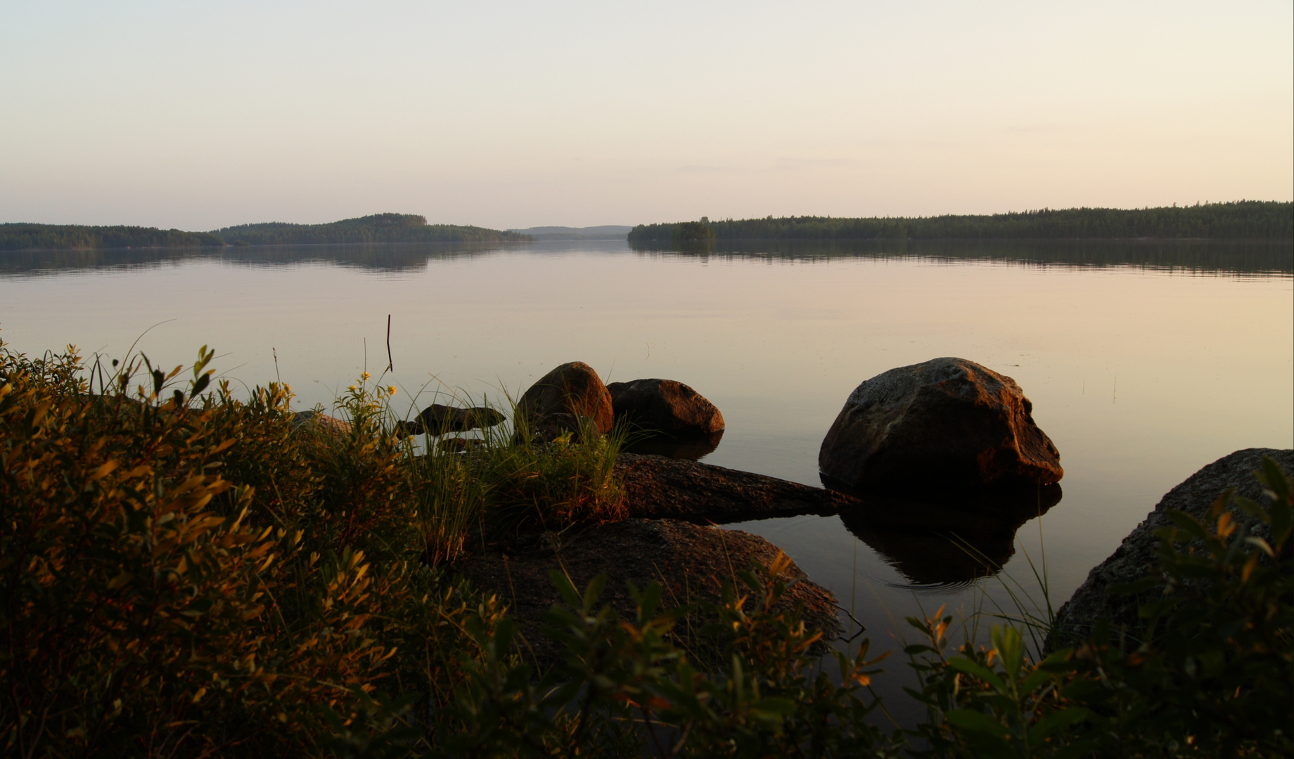 Abend am Puula-See in Hirvensalmi/Finnland