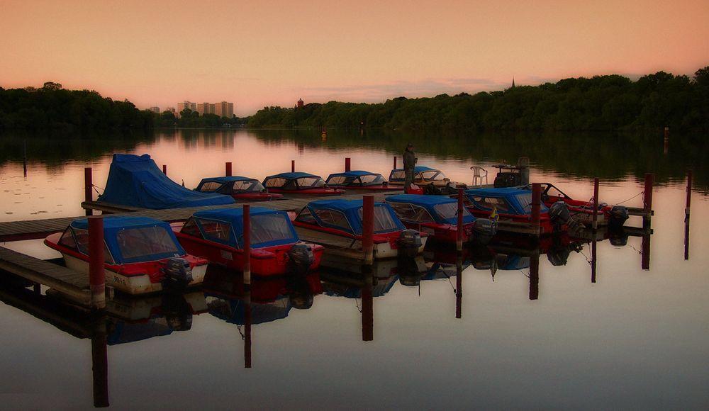 Abend am Templiner See I