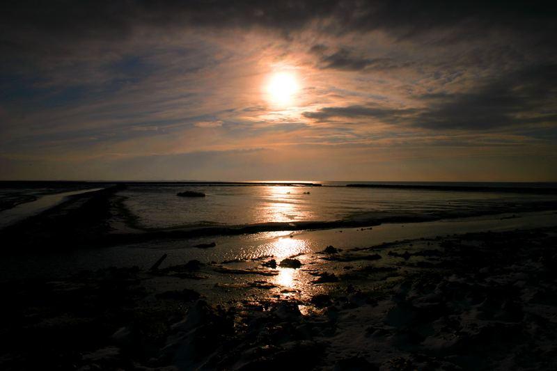 Abend am Wattenmeer