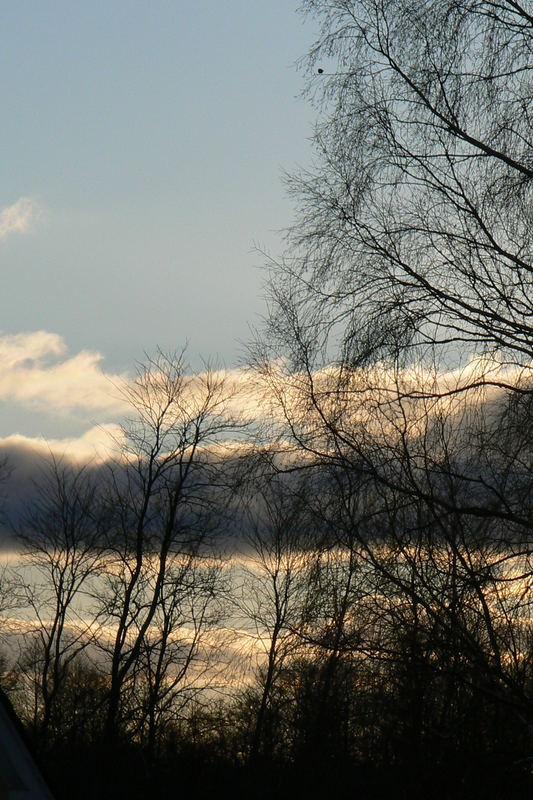 Abend aus dem Fenster geblickt