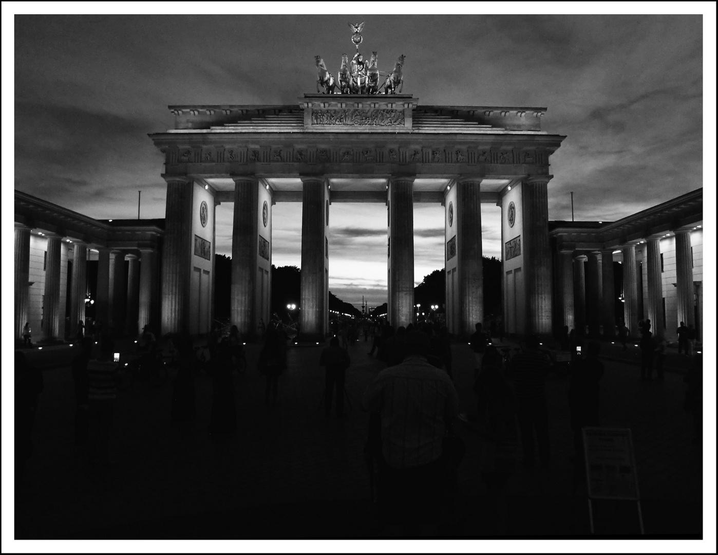 Abend Brandenburger Tor 2013