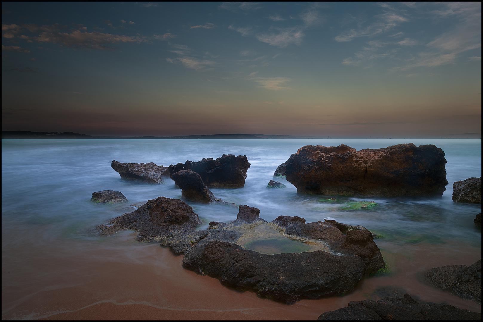 Abend Dämmerung am Meer