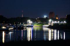 Abend im Industriehafen