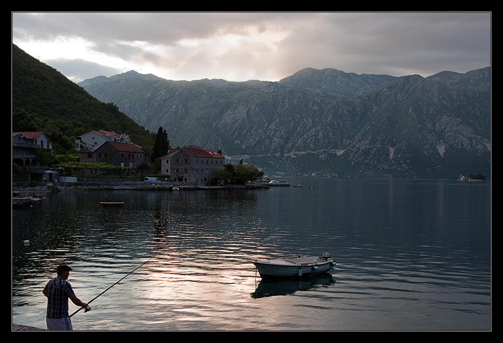 Abend in der Boka Kotorska