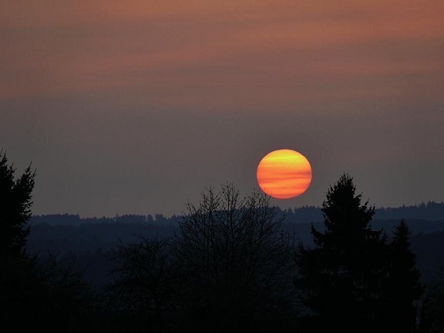 Abend-Sonnenball