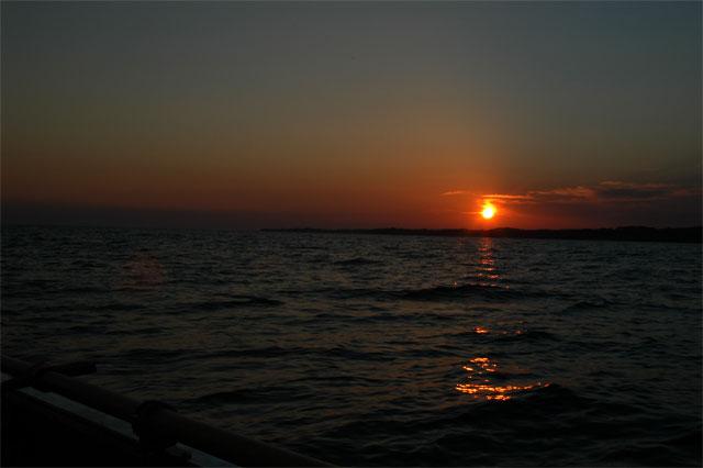 Abend-Sonnenuntergang