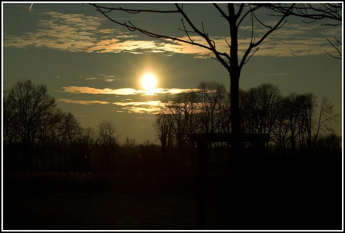 Abend über dem Münsterland