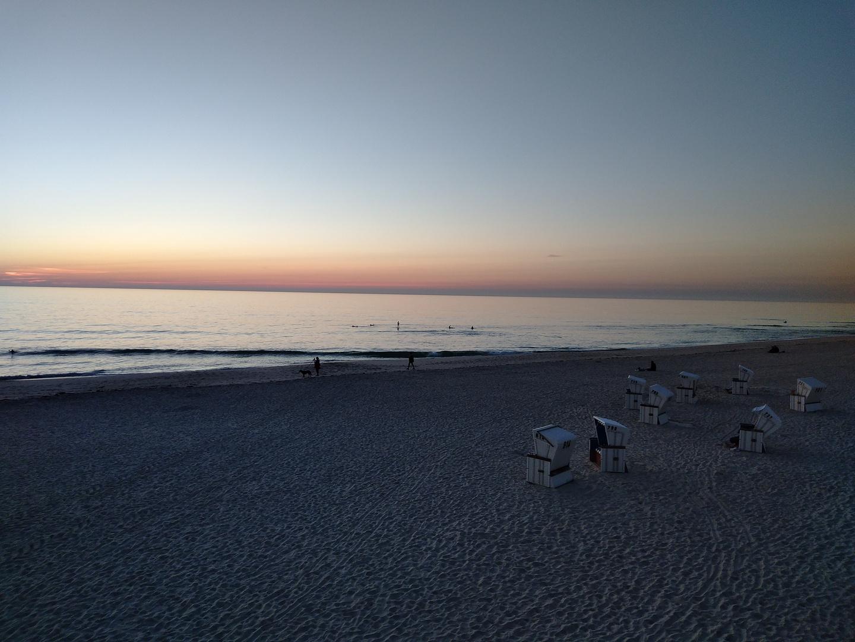 Abenddämmerung am Meer