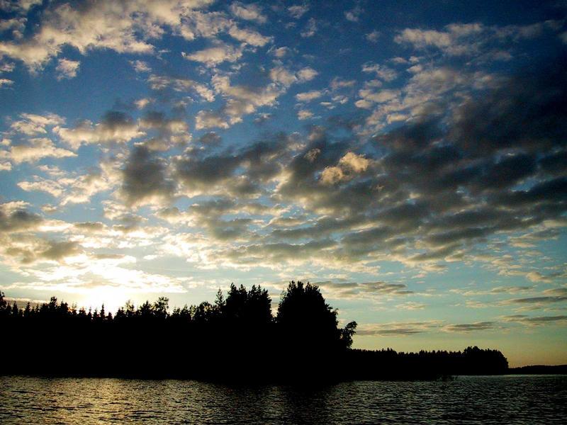 Abenddämmerung am See