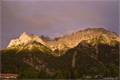 Abenddämmerung auf der westlichen Karwendelspitze