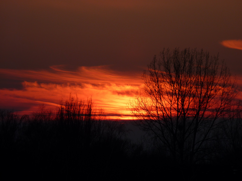 Abendfeuer am Himmel