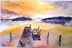 Abendfrieden am See