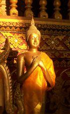 Abendgoldbuddha