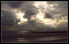 Abendhimmel an der Nordsee ...