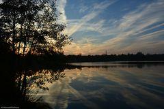 Abendhimmel im Teich