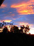 Abendhimmel nach heftigem Gewitter in der Rhön