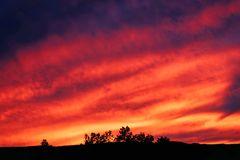 Abendhimmel über der Pfalz