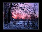 Abendhimmel über Norderstedt (neu gerahmt)