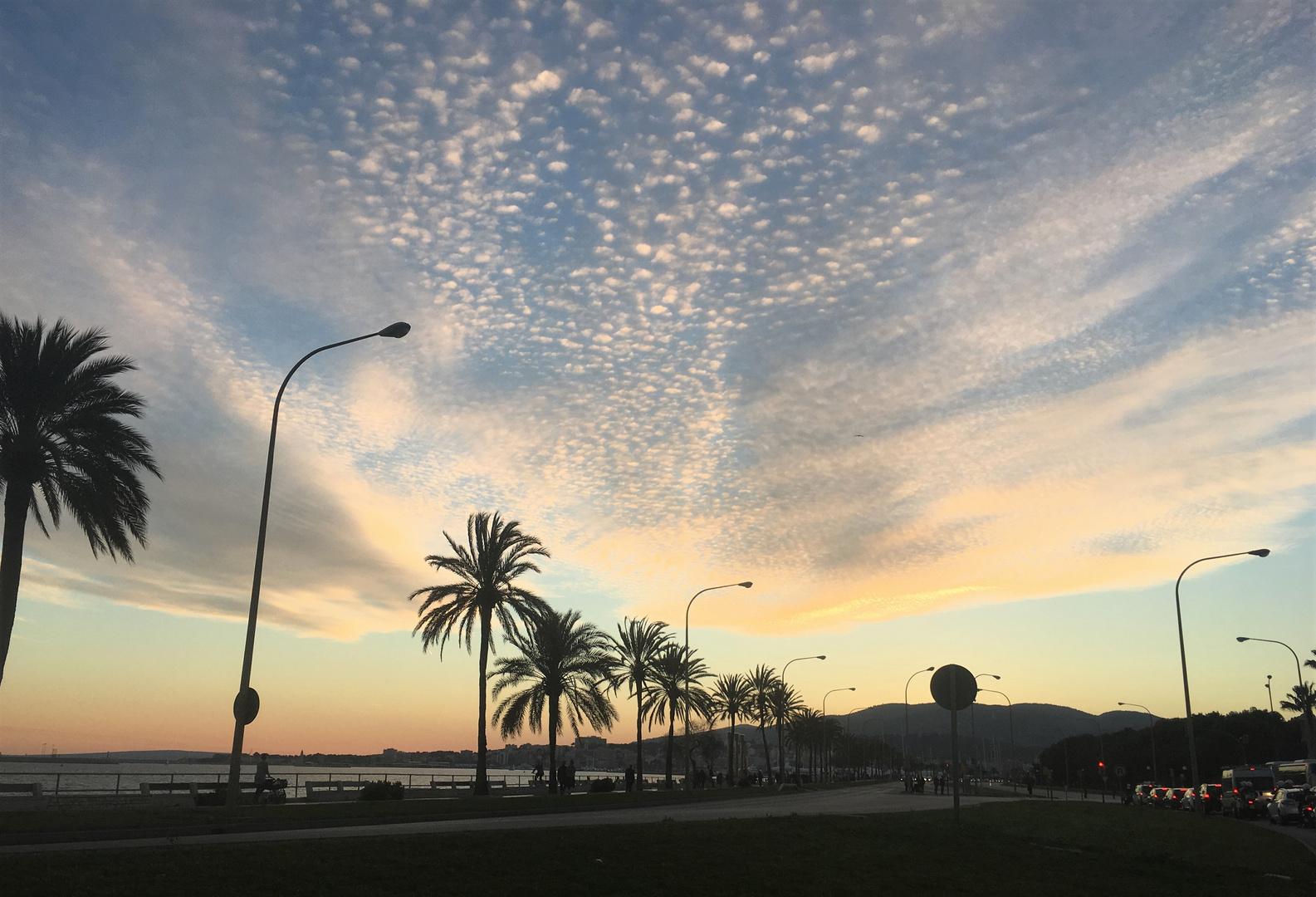 Abendhimmel über Palma