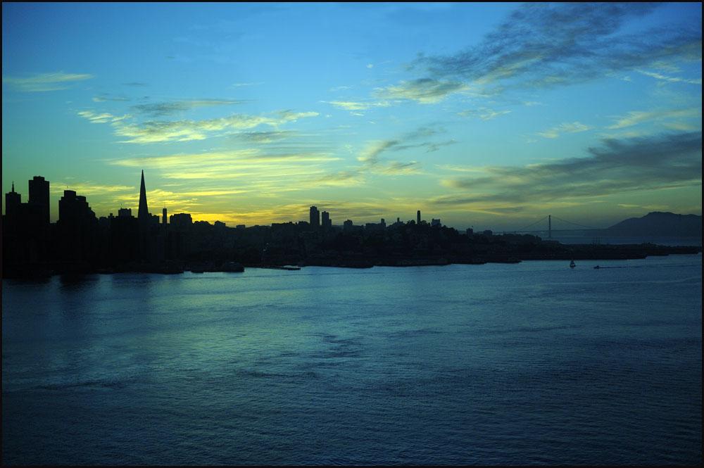 Abendliche Ankunft in San Francisco