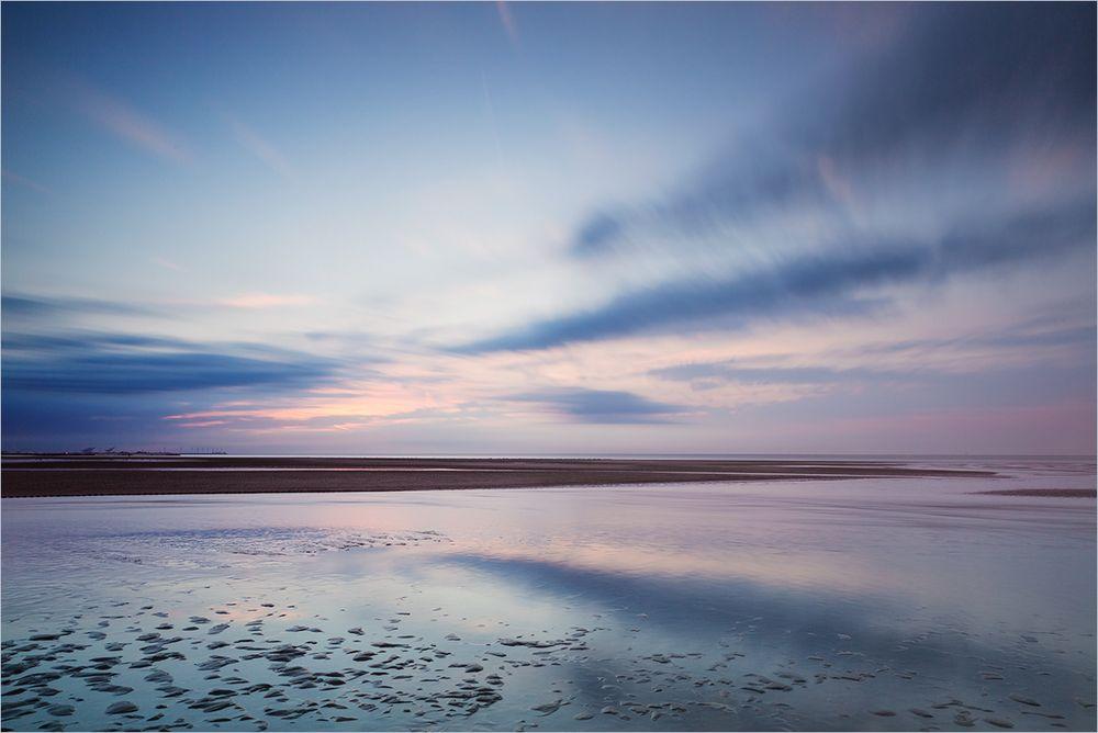 Abendliche Pastelltöne am Meer