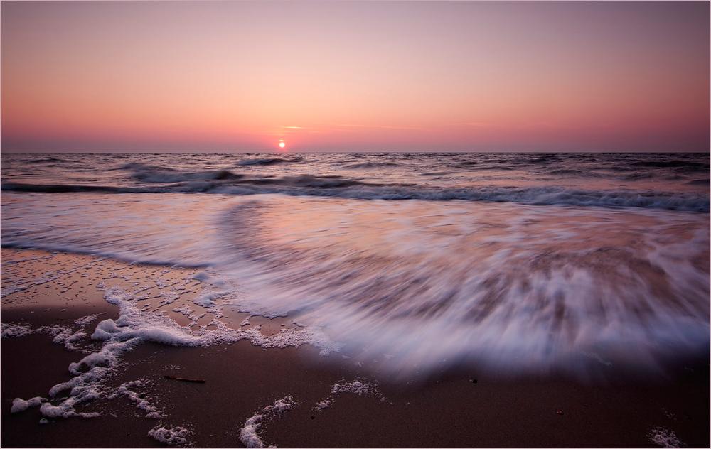 Abendliche Pastelltöne am Strand