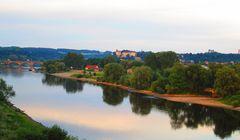 Abendliche Stadtansicht von Pirna