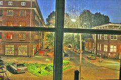 Abendlicher Blick aus meinem Fenster