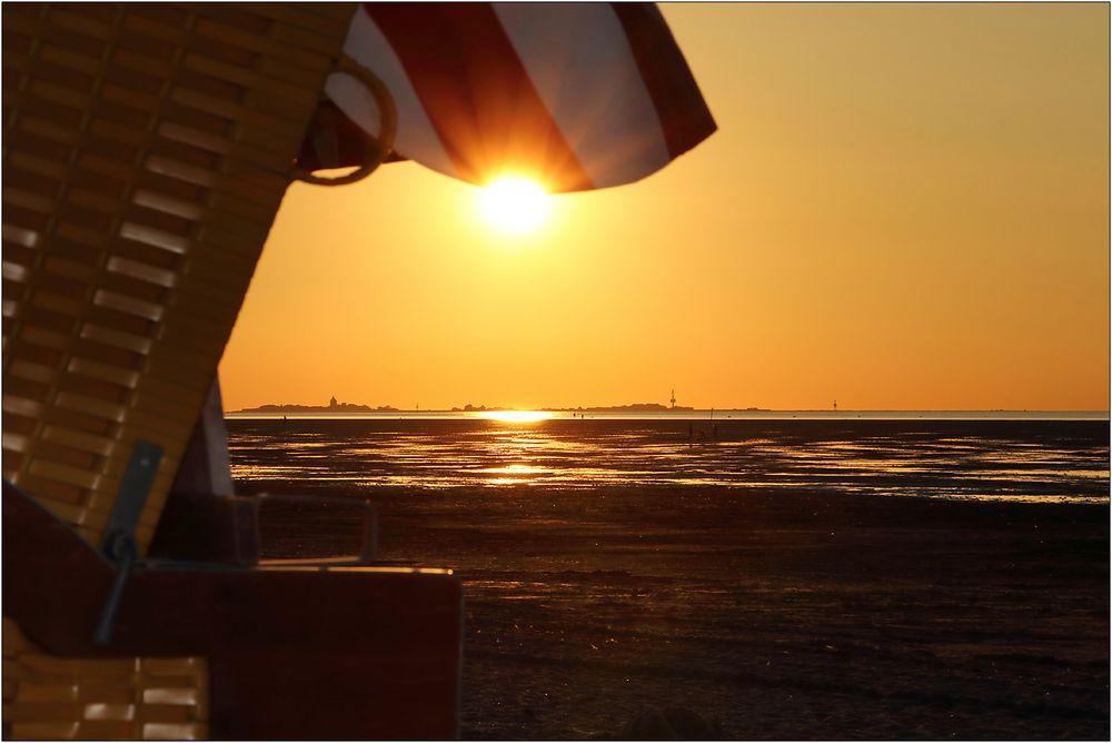 Abendlicher Blick in´s Watt...