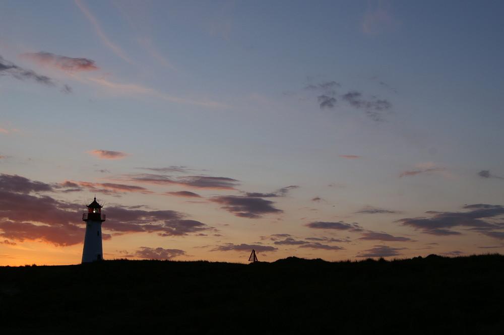 Abendlicher Leuchturm in List (Ellenbogen) auf Sylt