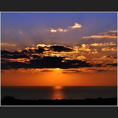 Abendlicher Sonnenaufgang