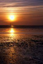 Abendliches Wattenmeer