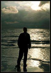 Abendlicht an der Nordsee ...