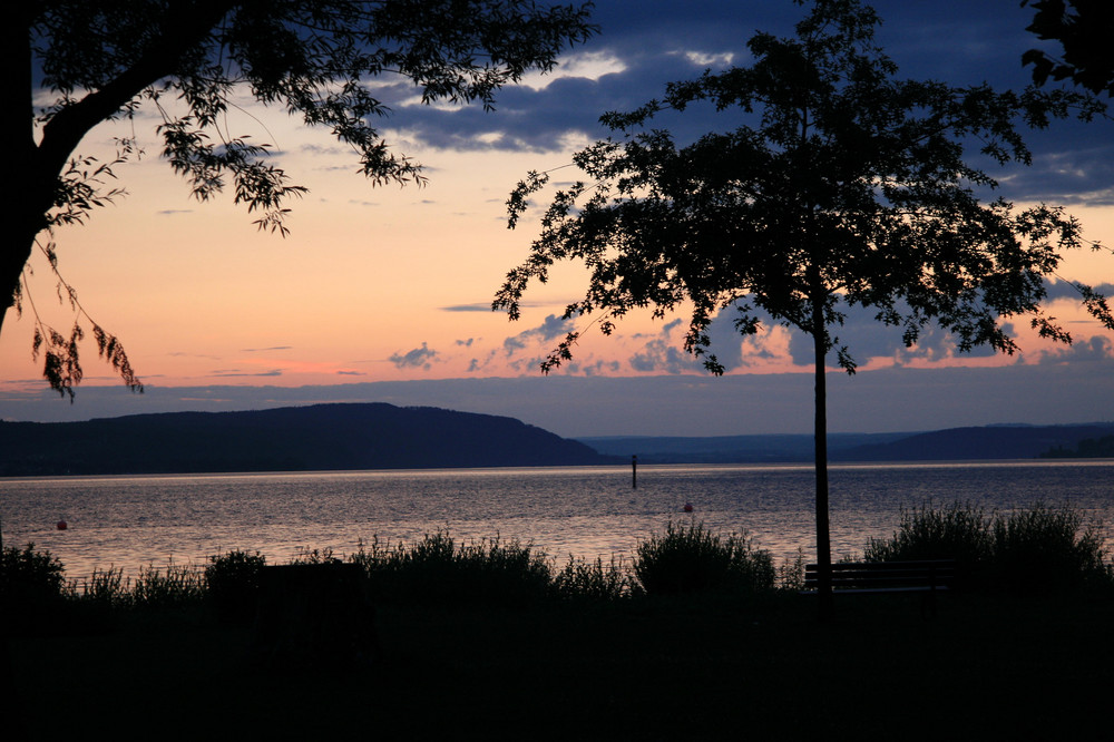 Abendrot am Bodensee