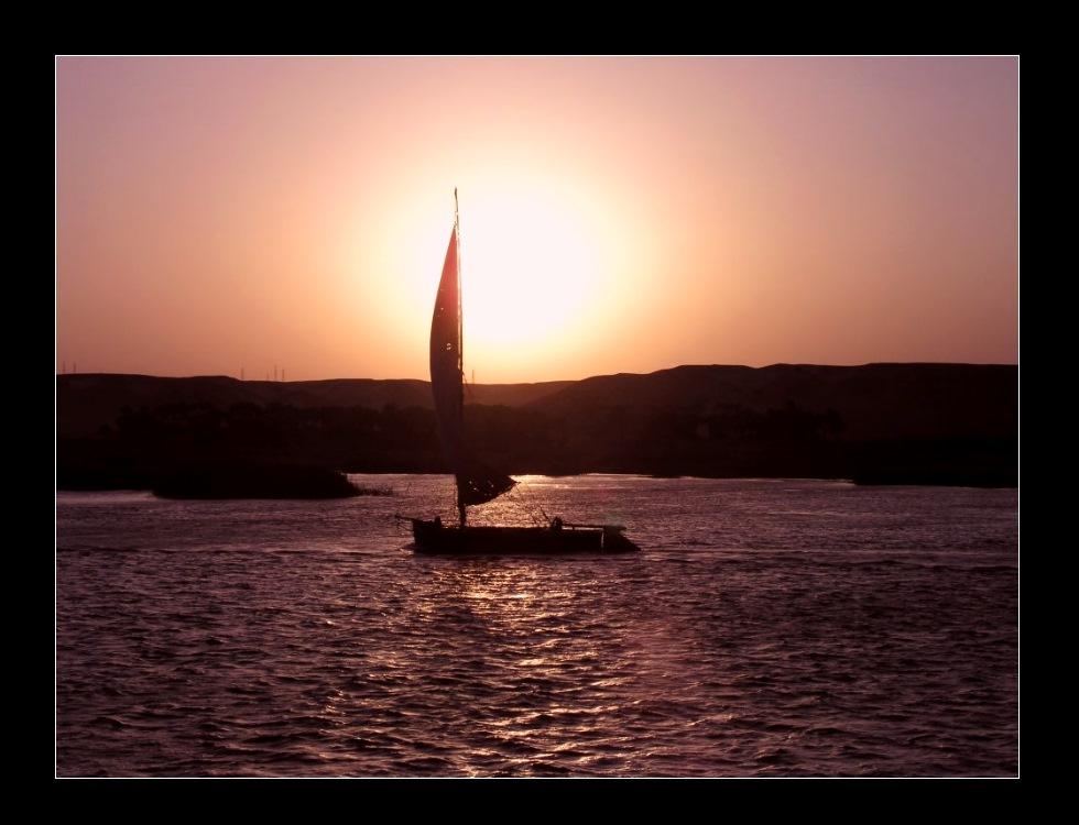 Abendrot am Nil