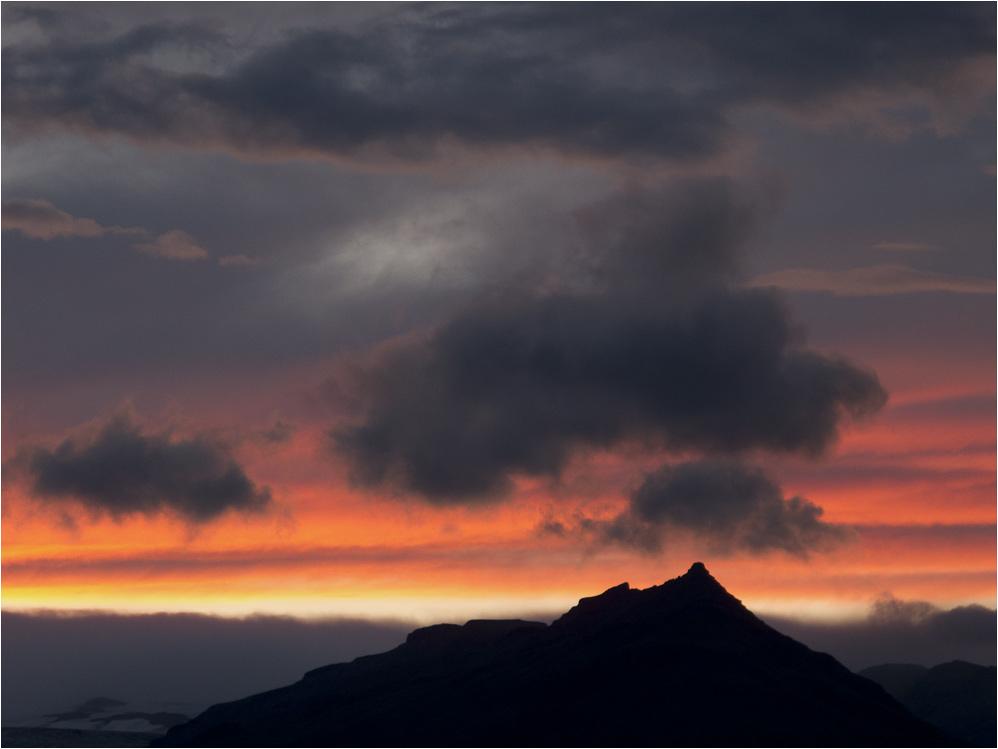 Abendrot am Vatnajökull