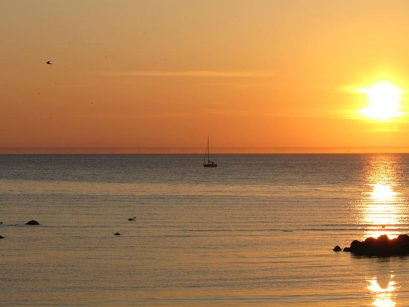 Abendrot auf der Insel Poel