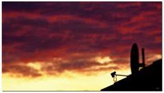 Abendrot schön Wetter droht ;)