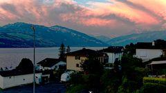 Abendrot über den Alpen