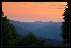 Abendrot über den Schwarzwaldhöhen