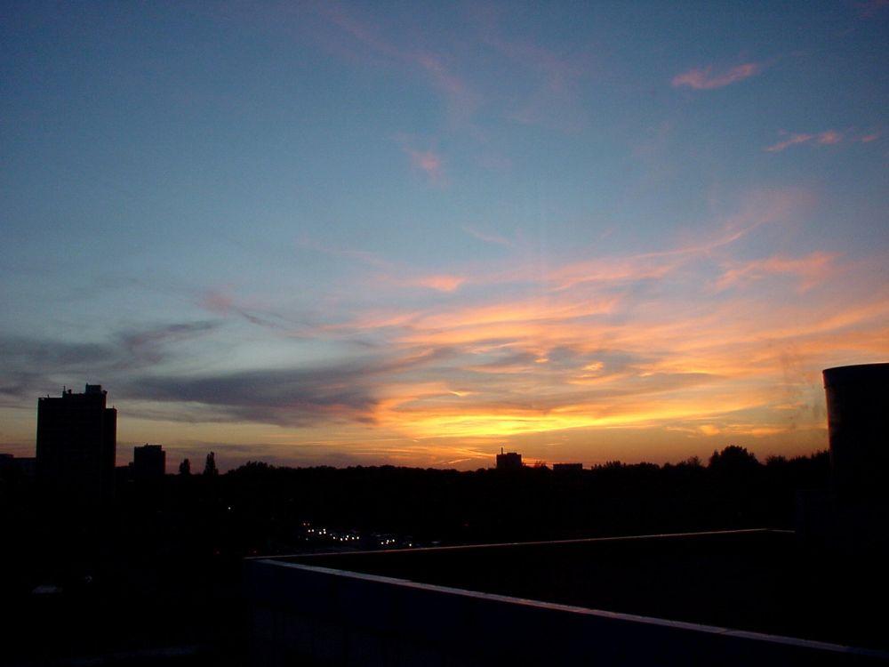 Abendrot über der Stadt