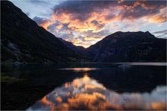 Abends am Geirangerfjord